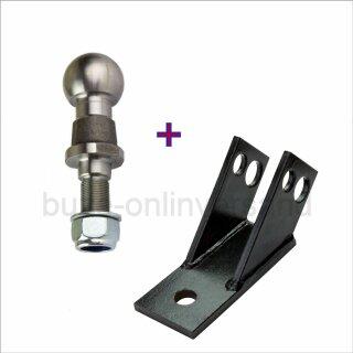 2 tlg. Set Drehsicherung ca.27 mm Loch + Kugelkopf  bis 3,5 to. ( 1 x 23207 + 1 x 52454 )