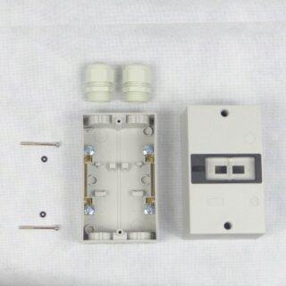 Gehäuse für Motorschutzschalter IP55 inkl. 2x Kabelverschraubung M25