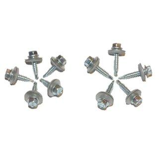 Bi-Metall Bohrschrauben 6-kt., Bohrleistung 2 mm, A2 4,8 x 20 DS 16mm