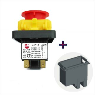 KJD 18 Hauptschalter 230 V 2 polig Farbe: gelb/schwarz  bis 1,8 kW