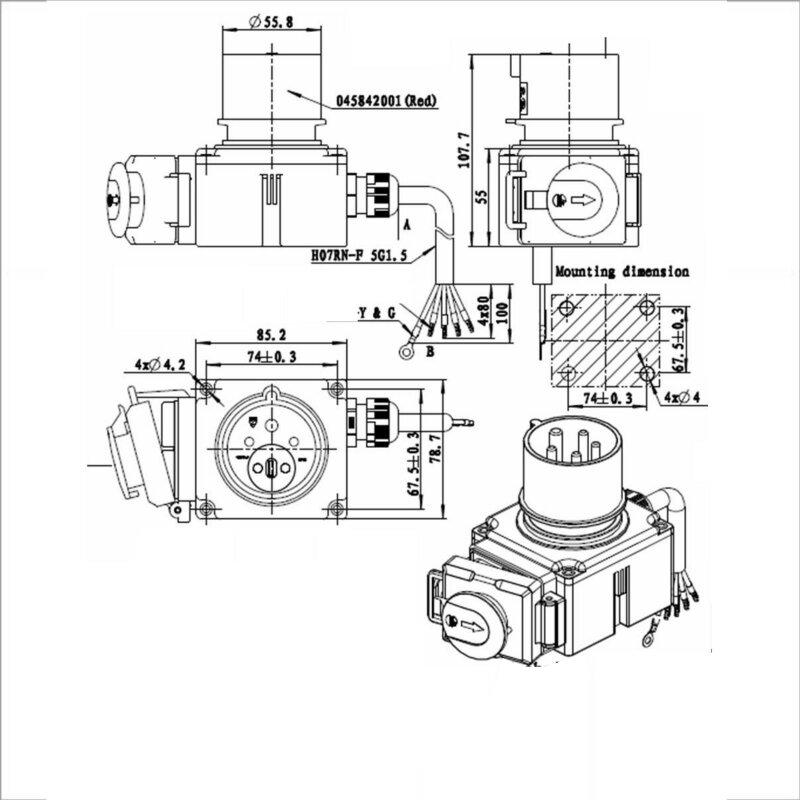 KOA7~3 Geräteschalter mit Kabel 380/400 V 3 Phasen bis 4 kW, 38,00 €