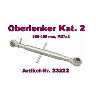 Oberlenker Kat. 2 , Länge 350-460 mm , M27x3, (Hülsenlänge 230 mm)