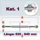 Oberlenker Kat. 1 , Länge 620-840 mm , M30x3,...