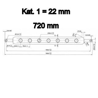 Ackerschiene 72 cm / Kat. 1